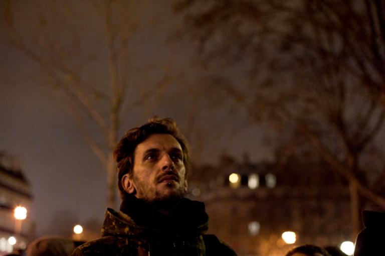 paris, place de la republique, tous avec charlie hebdo, 7 janvier 2015